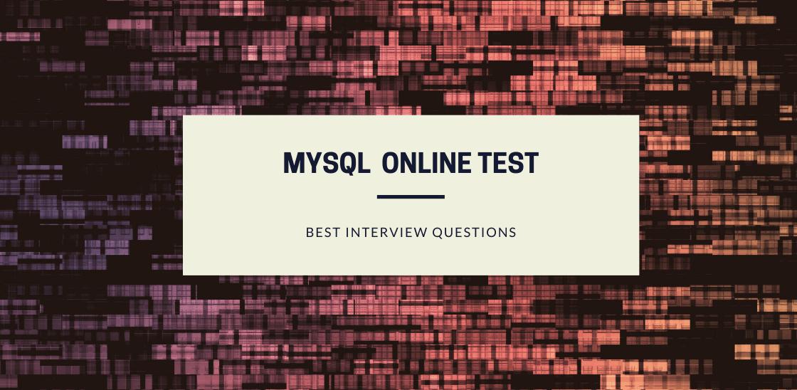 MySQL Online Test