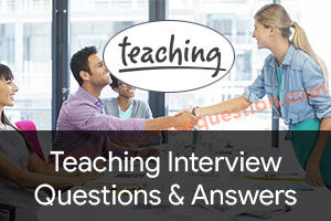 Teaching Interview Questions