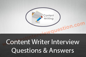 Content Writer Interview Questions