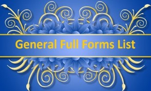 general full forms list