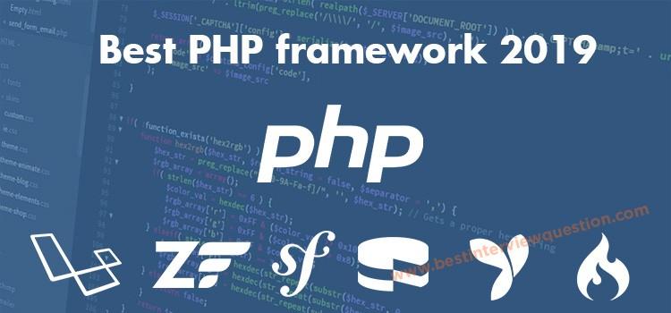 Best PHP framework 2019